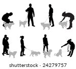 Stock vector set of people with dogs vector 24279757