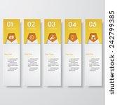 design clean number banners... | Shutterstock .eps vector #242799385