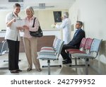 doctors and patients speaking... | Shutterstock . vector #242799952