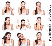 composite of positive emotions... | Shutterstock . vector #242803336