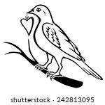 vector illustrations of contour ... | Shutterstock .eps vector #242813095
