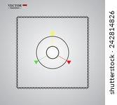 gps navigation  gray button...