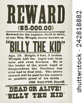 Wanted Poster For Billy The Ki...
