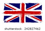 flag of great britain in the... | Shutterstock .eps vector #242827462