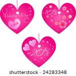 set of three valentine's day... | Shutterstock . vector #24283348