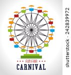 carnival design over white... | Shutterstock .eps vector #242839972