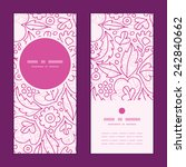 vector pink flowers lineart... | Shutterstock .eps vector #242840662