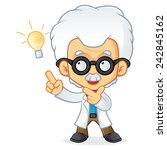 professor having idea | Shutterstock .eps vector #242845162