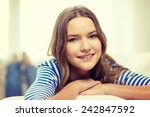 home and happiness concept  ... | Shutterstock . vector #242847592