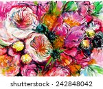 Pink Bouquet Of Flowers With...