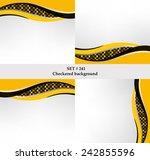 set of checkered vector flag...   Shutterstock .eps vector #242855596