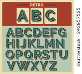 retro vector latin type  font   ... | Shutterstock .eps vector #242857525