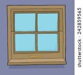 single hand drawn cartoon... | Shutterstock .eps vector #242859565