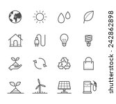 ecology icons | Shutterstock .eps vector #242862898