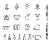 gardening icons | Shutterstock .eps vector #242863858