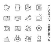 hobbies icons | Shutterstock .eps vector #242864746