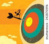 hitting the target... | Shutterstock .eps vector #242870596