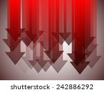 group of red arrows pointing... | Shutterstock .eps vector #242886292