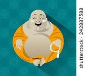 feng shui talisman. hotei.... | Shutterstock .eps vector #242887588