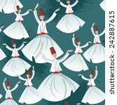 whirling dervishes. seamless... | Shutterstock .eps vector #242887615