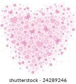 vector valentine background... | Shutterstock .eps vector #24289246