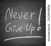 """ never give up ""concept is... 