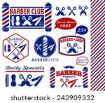 set of vintage barber shop... | Shutterstock .eps vector #242909332
