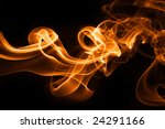 Fire smoke - stock photo