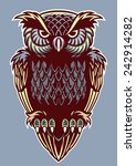 vintage color decorative style... | Shutterstock .eps vector #242914282