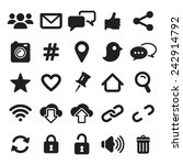 social media icons | Shutterstock .eps vector #242914792
