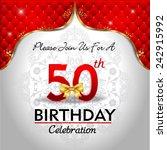 celebrating 50 years birthday ... | Shutterstock .eps vector #242915992