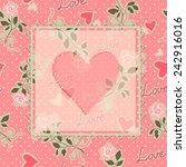 valentine's day pattern.... | Shutterstock .eps vector #242916016
