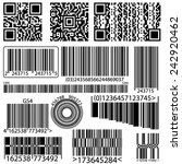 background barcode and qr code | Shutterstock .eps vector #242920462