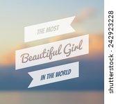 vector typography on blur... | Shutterstock .eps vector #242923228