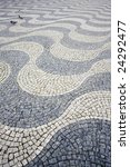 portuguese stone pavement at... | Shutterstock . vector #24292477