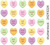 Set Of 25 Conversation Hearts