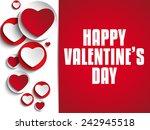 vector   valentine day i love... | Shutterstock .eps vector #242945518