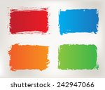 grunge frame set.color grunge... | Shutterstock .eps vector #242947066