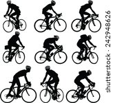 bicyclist silhouette   vector | Shutterstock .eps vector #242948626