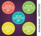 winter offer stickers. vector... | Shutterstock .eps vector #242951242