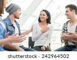 circle of trust. group of... | Shutterstock . vector #242964502