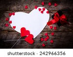 blank valentines day card with... | Shutterstock . vector #242966356