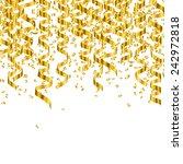 vector illustration of golden... | Shutterstock .eps vector #242972818