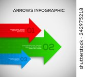3d infographic with arrows.... | Shutterstock .eps vector #242975218