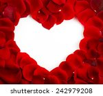 red rose heart shape with copy...   Shutterstock . vector #242979208