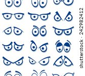 cartoon eyes seamless pattern.  | Shutterstock .eps vector #242982412