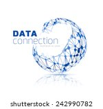 abstract network connection... | Shutterstock .eps vector #242990782