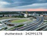 nonthaburi bridge in bangkok... | Shutterstock . vector #242991178