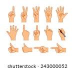 vector isolated hands... | Shutterstock .eps vector #243000052