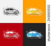 drawing business formulas  car | Shutterstock . vector #243003532